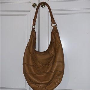 Linea Pelle luggage tan leather hobo purse